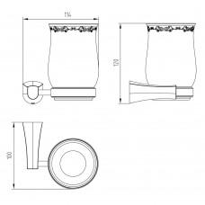 Стакан для ванной CUTHNA stribro