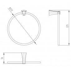 Полотенцедержатель CUTHNA stribro (кольцо)