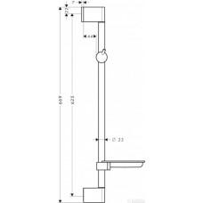 Unica M² Штанга для душа 0.65 м, хром