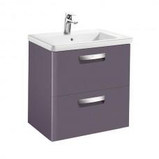 GAP тумба 600*440*645мм с раковиной, 2 выдв.ящика, цвет фиолетовый матовый