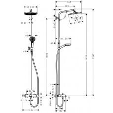 Crometta S 240 Showerpipe Душевая система для ванны
