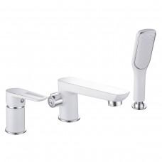 BRECLAV смеситель для ванны, врезной, на три отверстия,  хром/белый