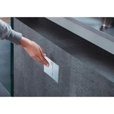 Omega60 Смывная клавиша, металл, белое стекло