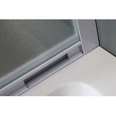 VI`Z квадратная душевая кабина 80~90*185 см, регулируемый белый профиль, стекло