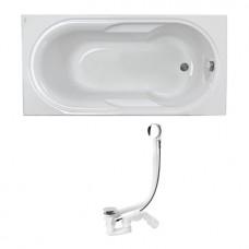 LAGUNA ванна прямоугольная 170*80 см, глубина: 42см, емкость: 190л, с ножками SN0+сифон Viega Simplex  для ванны автомат