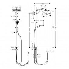 Crometta E 240 1jet Showerpipe Reno Душевая система EcoSmart 9 л / мин, хром