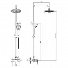 Система душевая BILA SMEDA new (смеситель для душа, верхний и ручной душ 1 режим, шланг 1,5м)