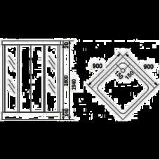 Душевая кабина KERAMAC  AURORA 90*90*1800,  квадратная