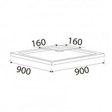 Поддон для душевой кабины VOLLE BENITA 900*900*50 мм,квадратный