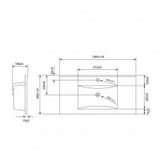 VOLLE мебельный умывальник 1005*463*175mm накладной