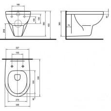 PRIMO унитаз подвесной с сиденьем с крышкой Duroplast Soft Close (укр.)