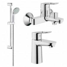 BauLoop Набор смесителей для ванны+кухня (23337000+32815000/23603000+27598001+31368000)