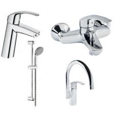 Набор смесителей для ванны+кухня Eurosmart (23324001+33300002+27926000+33202002)