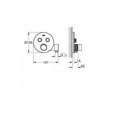 SmartControl Термостат для душа/ванны на 3 потребителя