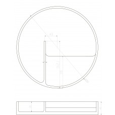 Тарелка для косметики, каменная Solid surface D280*45mm