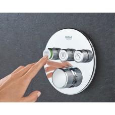 Термостат для душа/ванны SmartControl с 3 кнопками, накладная панель