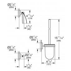Набор аксессуаров 3в1 Essentials : ершик, крючок, держатель туалетной бумаги