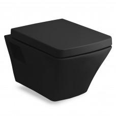 TEO black унитаз 53*35,5*40см подвесной в комплекте с сиденьем slow-closing