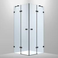 De la Noche Душевая кабина квадратная 900*900*2000мм (стекла+двери), распашные двери, стекло прозрачное 8мм с  Nano покрытием