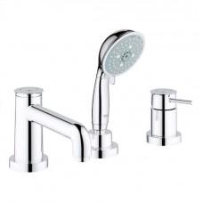 BauClassic Смеситель для ванны, однорычажный на 3 отверстия