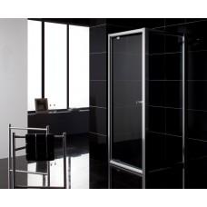 Дверь в нишу распашная 90*195, профиль хром, стекло прозрачное 5 мм