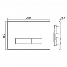 IMPRESE Комплект инсталляции 3в1(клавиша PANI белая)