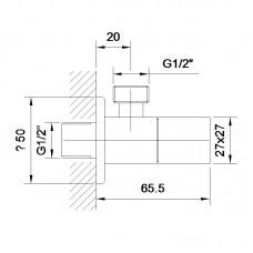 GRAFIKY угловой вентиль четверть оборота G1/2-G1/2