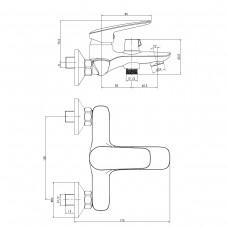 PRAHA new смеситель для ванны, хром, 35 мм