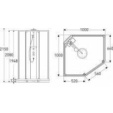 SHOWERAMA 10-5 Comfort задние стенки душевой пятиугольной кабины 100*100см, белый профиль/прозрачное стекло