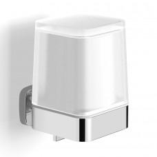Дозатор жидкого мыла TEO матовое стекло, крепление к стене, хром