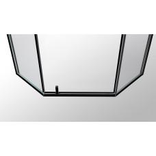 A LÁNY Душевая кабина пятиугольная, реверсивная, 1000*1000*1950 (стекла+двери), двери распашные, стекло прозрачное  6 мм, профиль черный