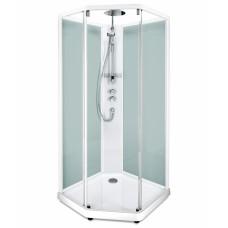 Задние стенки душевой пятиугольной кабины  IDO SHOWERAMA 10-5 Comfort  100*100см, белый профиль/матовое стекло