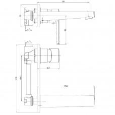 BENITA Смеситель для раковины  (настенный), хром, 35 мм