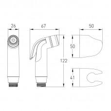 NEMO набор для биде (лейка хром, держатель, шланг  в двойной оплетке 1,2 м)