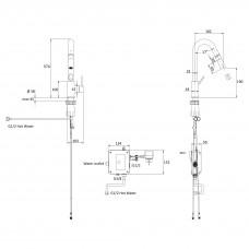 SMART bio смеситель для кухни, хром, 35 мм, с дозатором