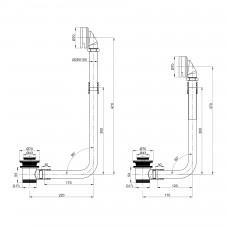 Сифон наружный металлический для ванн 12-22-706 и 12-22-314