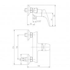 ORLANDO смеситель для душа, хром, 35 мм