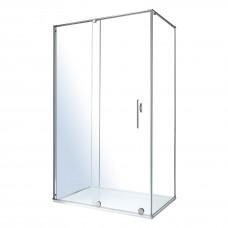 TEO душевая кабина 117,5*87,5*200см (стекла + двери), раздвижная, хром, стекло прозрачное 8мм