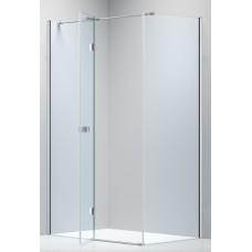 LIBRA душевая кабина 120*80*200см (стекла + двери), реверсивная, распашная, хром, стекло прозрачное 8мм