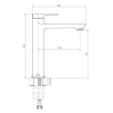 LIBRA смеситель для раковины высокий, хром, 35 мм