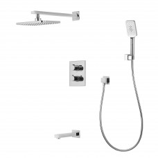 CENTRUM комплект для ванны/душа (смес.с переключ.,верхн.душ, ручной душ,шланг, шланг. подсоед, излив)