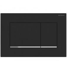 SIGMA 30 cмывная клавиша, двойной смыв: с легкоочищаемой поверхностью черный матовый/хром глянцевый