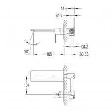 SMART CLICK смеситель для раковины, скрытый монтаж, хром