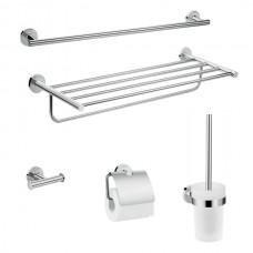 Logis Universal Набор аксессуаров для ванной комнаты 5в1, хром