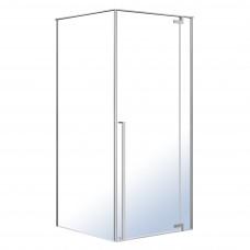 FREEZ душевая кабина 90*90*200см, квадратная, распашная дверь, правая, без поддона, хром, стекло прозрачное 8мм