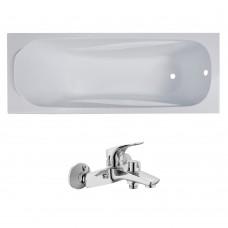 Комплект: FIESTA ванна 170*70*43,5см без ножек + ORLANDO смеситель для ванны, хром, 35мм