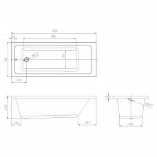 Комплект: LIBRA ванна 170*70*45,8см без ножек + SIMPLEX сифон для ванны
