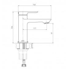 Комплект: LEON тумба подвесная, 2 ящика + умывальник накладной + смеситель 15201100