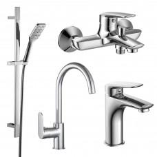 PL набор смесителей (4 в 1) для ванны и кухни
