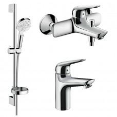 NOVUS набор смесителей для ванны, умывальник 100 (7103000+71040000+26553400)